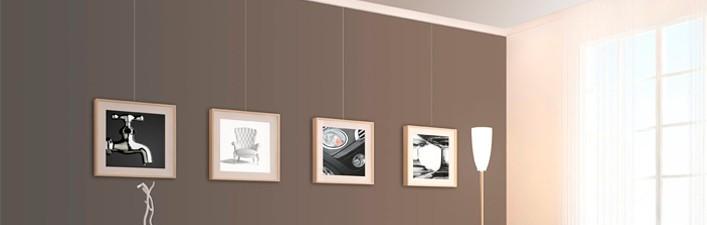picture hanging system stas. Black Bedroom Furniture Sets. Home Design Ideas