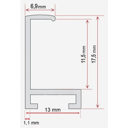Oval Mirror 8350G1 6*8
