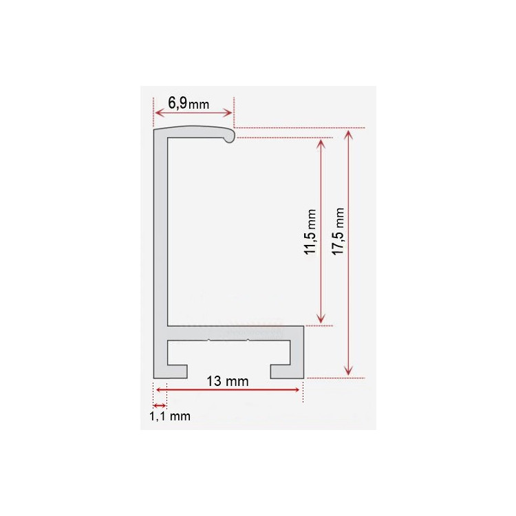 Įrėmintas veidrodis 8350G1 6*8