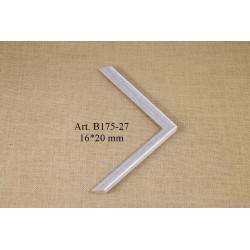 Aliuminio rėmelis sidabrinis 101400500